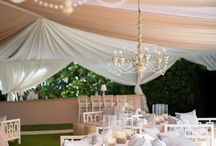Tent Please! / From a simple summer backyard wedding to a black tie event here are some of our favorite ideas for tented events.