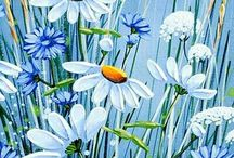 Essai fleurs bleues