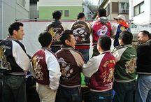 Sukajan / Japanese souvenir satin jackets.
