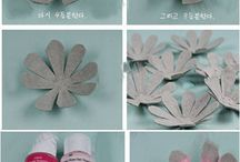 Flowers making made by egg carton box