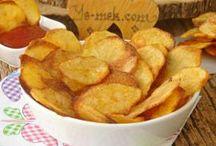 Patates ve patates cesitleri ile cesitli pişirme şekli.