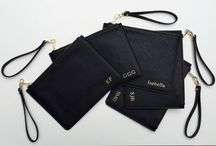 Classic Pouch / Luxe Personalised Saffiano Leather Pouches