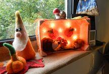 Herbstdeko / Verschiedene Dekorationen für drinnen
