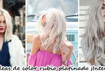 Ideas de colores platinado para rubias