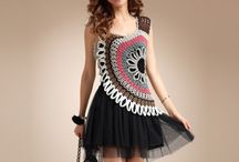 doily dresses / Outfits made with doilies