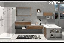 Integrated Spaces / La combinación de Kyrya y Durian nos permite la optimización del ambiente de baño, facilitando la continuidad de los diferentes elementos (lavabo, ducha y bañera) sin uniones visibles y creando espacios únicos.