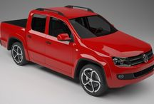 Modeling car Volkswagen Amarok / Creating projects three-dimensional models for 3d printing and imaging to printing.
