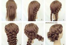 Идеи для причесок на длинные волосы.
