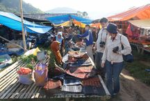 local market .flores island