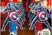 Decoração de festa Capitão América