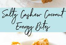 Salty cashew coconut balls