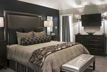 Navy Blue And Silver Bedroom