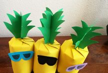 Knutselen ananas en flamingo feest