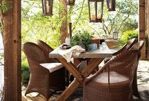rustic outdoor decorating  / by Sandy Taylor