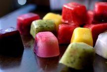 frozen fruit ice cubes