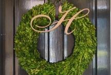 wreaths / by Barbara Hellinga