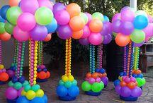 arte com bolas de aniversário