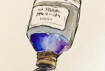 my drawings / watercolor drawings paintings idea illust