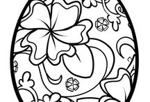easter coloring in pages