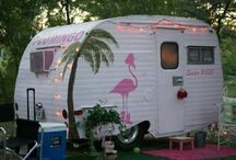 """My Fantasy Pink """"Flamingo"""" Vintage Camper / by M Armstrong"""