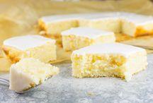 Zitronenblechkuchen mit Glasur