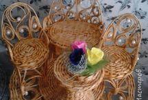 Nábyteček pletený
