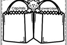Capitals and lowercase letters