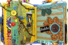Fabric Journals and Collages