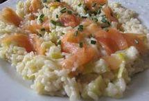 risotto au saumon fumé  et poireaux