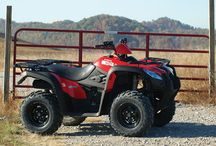 KYMCO ATVS - 2016 range / Road legal and suitable for work on and off road, the KYMCO range of sleek, stylish and robust ATV's are the perfect option for those looking to get the job done, or get off the beaten path.