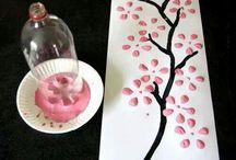 Kunst maken met kinderen / Samen met mijn 8 jarige kleindochter Caitlyn Claassen ontworpen en gemaakt.