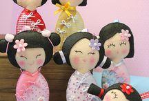 bamboline di feltro / bamboline di feltro
