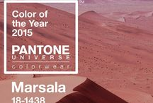 2015 Pantone Color of the Year - Marsala / by The Suntory Collection