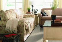 Fantastic Florals / Elegant room scenes designed with Flooring America products and adorned with floral decorations