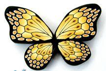 polymer clay butterflies