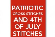 Patriotic and 4 July Cross Stitches