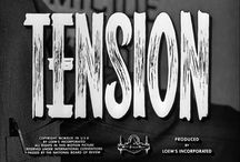 50s Title Design / Title Inspiration from Crime Thriller genre.  In the 1950s, titles worked to convey emotion and tone, to prepare audiences for what they can expect from the upcoming film.  They also introduced animation techniques, cleaner geometric forms and new typography.