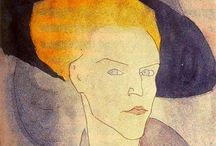 Amedeo Clemente Modigliani / (1884 – 1920) Italian Jewish painter and sculptor who worked mainly in France. He is known for portraits and nudes in a modern style characterized by elongation of faces and figures, that were not received well during his lifetime, but later found acceptance. Modigliani spent his youth in Italy, where he studied the art of antiquity and the Renaissance, until he moved to Paris in 1906. There he came into contact with prominent artists such as Pablo Picasso and Constantin Brâncuși.