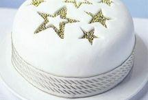 White Christmas cake / Cakes
