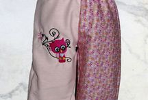 Kinder Hosen mit Stickerei / Awesome pants for kids.  Made by me and my embroidery machine.