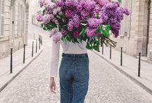 Flowers moodboard