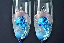 blauw rookglas