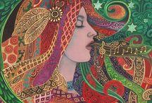 ART ~ Mezzo Goddess Art Nouveau