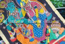 Kalamkari Dupattas / Yellow is a Designer Online store for Women. A one single stop for Kurtis, Sarees, Office Wear and Kids Wear. www.yellowkurti.com