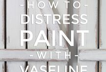 how to distress without sanding