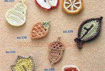 Handmade / croche, fruites, вязаные фрукты, аппликация, крючком