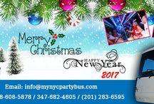 Festive Wishes / For more details visit http://www.mynycpartybus.com/