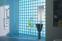 Üvegtégla, térelválasztás, tolóajtók  - glass Block, paravan