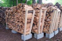 opslag hout - buiten / voorbeelden van opslag van hout buiten