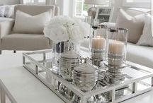 Living room table decoration